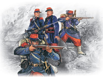 ICM Military Models 1/35 French Line Infantry French-German War 1870-1871 (4) Kit