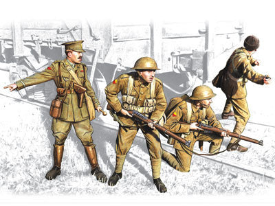 ICM Military Models 1/35 British Infantry 1917-18 (4) Kit