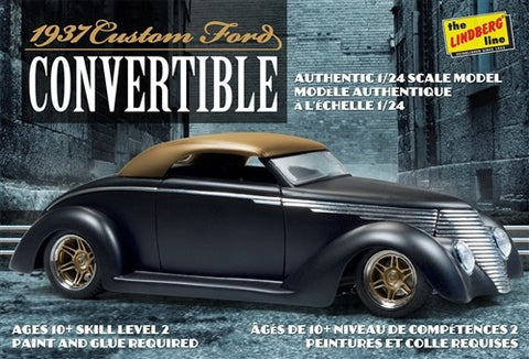 Lindberg Model Cars 1/24 1937 Ford Custom Convertible Car Kit