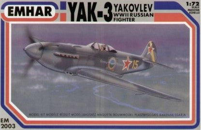 Emhar Aircraft 1/72 WWII Yak3 Russian Fighter Kit