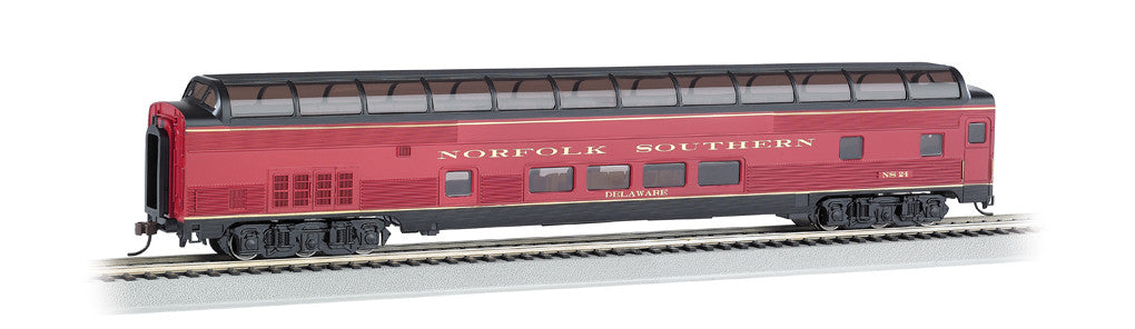 Bachmann HO 85' Budd Full Dome/Lighted, Norfolk Southern