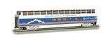 Bachmann HO 89' Colorado Railcar Full-Dome, McKinley Explorer Chulitna #1056