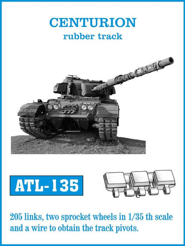 Friulmodel Military 1/35 Centurion Rubber-Type Track Set (205 Links)