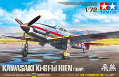 Tamiya Aircraft 1/72 Kawasaki Ki61Id Hien (Tony) Fighter (New Tool) Kit