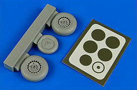 Aires Hobby Details 1/48 Me262A/B Wheels & Paint Masks For HBO