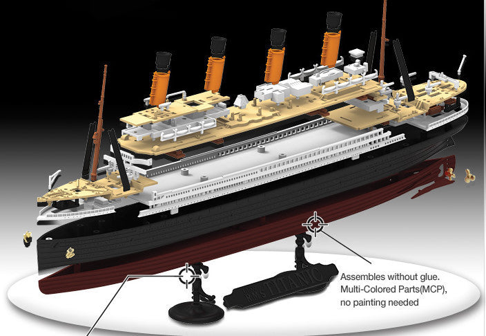 Academy Ships 1/1000 RMS Titanic Ocean Liner (Snap) Kit