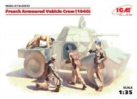 ICM Military Models 1/35 French Armored Vehicle Crew 1940 (4) Kit