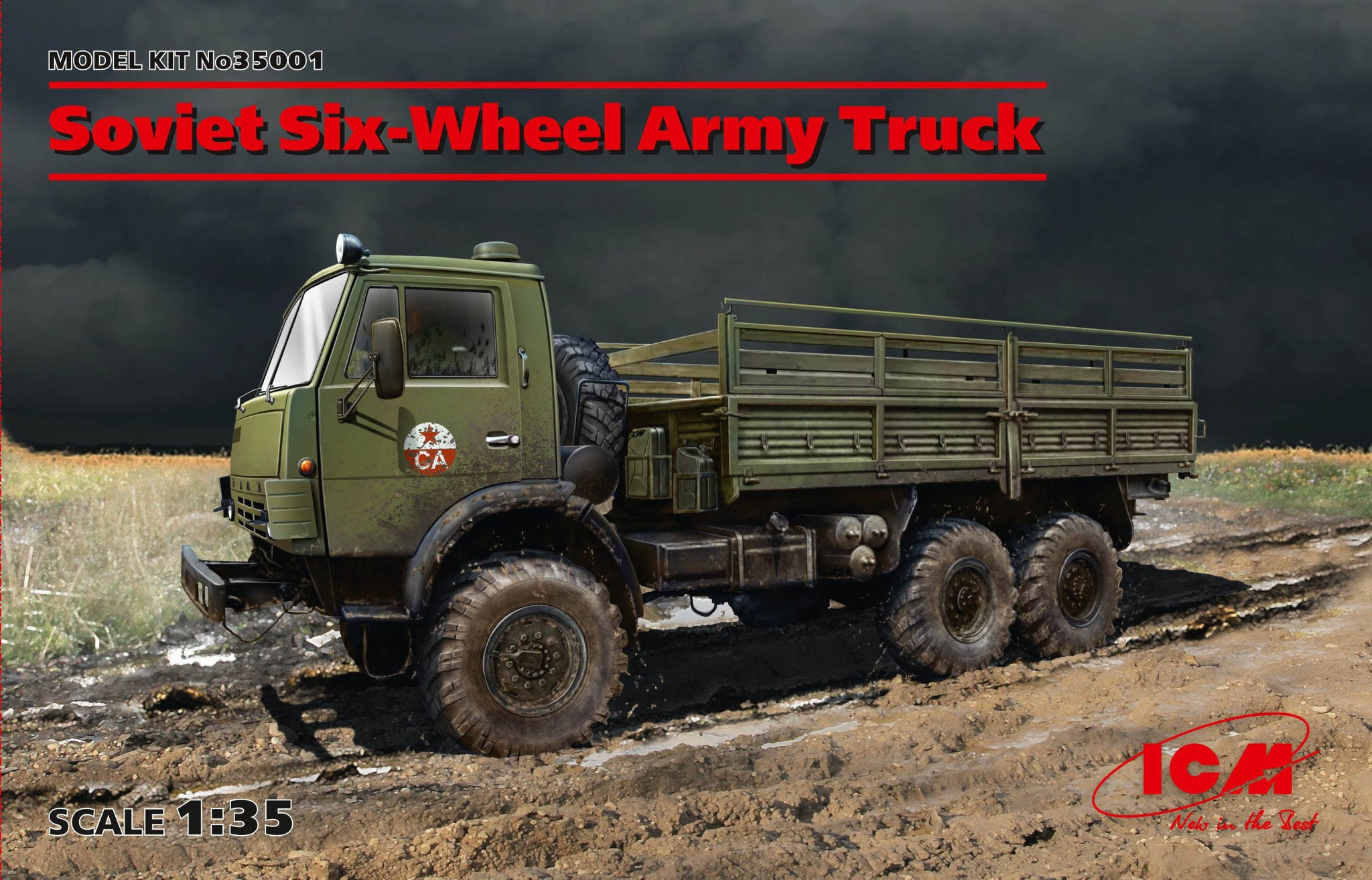ICM Military Models 1/35 Soviet Six-Wheel Army Truck Kit