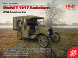 ICM Military Models 1/35 WWI American Model T Ambulance 1917 (New Tool) Kit