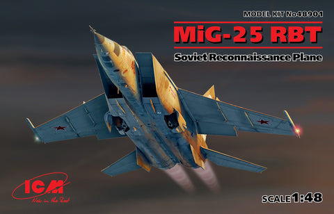 ICM Aircraft 1/48 MiG25RBT Soviet Recon Aircraft Kit