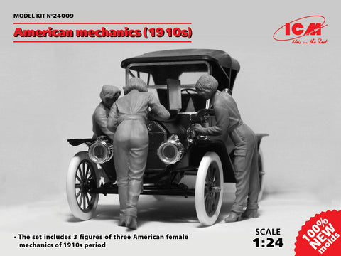 ICM Military Models 1/24 American Female Mechanics 1910s (3) (New Tool) Kit