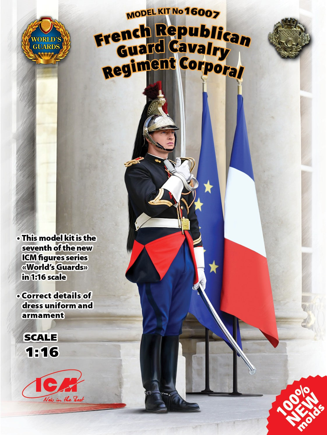 ICM Military Models 1/16 French Republican Guard Cavalry Regiment Corporal (New Tool) Kit