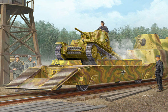 Trumpeter Military Models 1/35 WWII German Army Panzertragerwagen Tank Transport Flatcar Kit