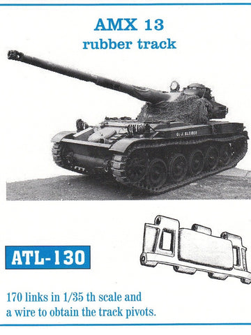 Friulmodel Military 1/35 AMX 13 Rubber-Type Track Set (170 Links)