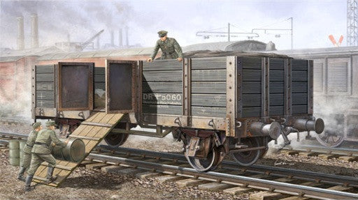 Trumpeter Military Models 1/35 WWII German Army Gondola Railcar (High Sides) Kit