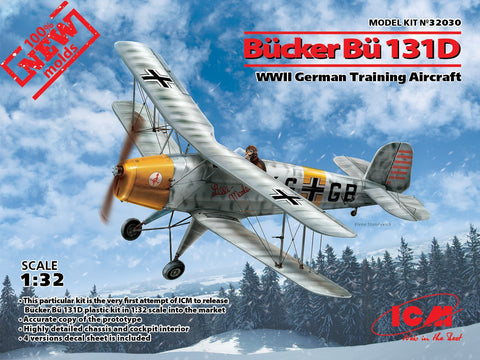 ICM Aircraft 1/32 WWII German Bucker Bu131D Training Aircraft Kit