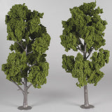 "Woodland Scenics Ready Made Realistic Trees- 8"" - 9"" Med Green (2)"