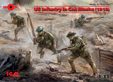 ICM Military 1/35 US Infantry in Gas Masks 1918 (4) Kit