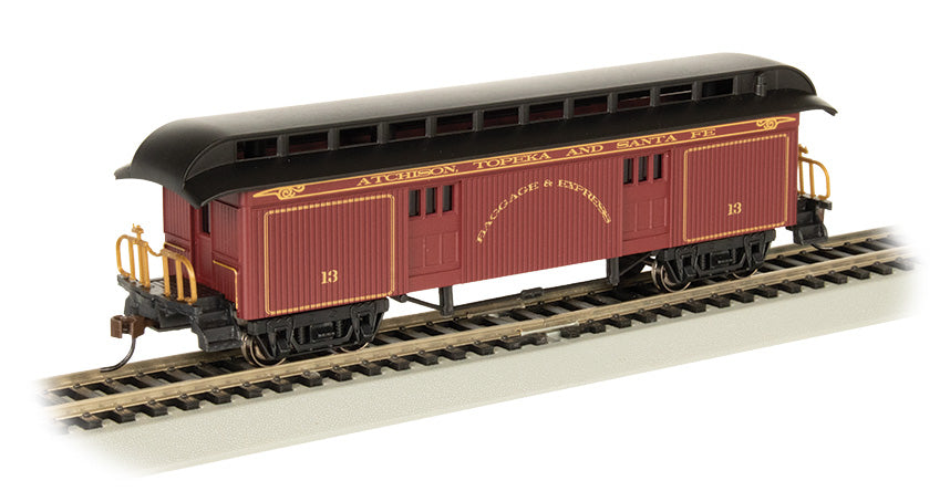 Bachmann-Wood Old Time Baggage w//Round-End Clerestory Roof Ready to Run Wes