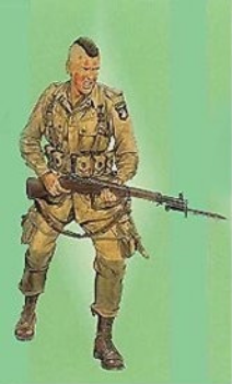 Dragon Military Models 1/16 Screaming Eagle Soldier w/Rifle Normandy 1944 Kit