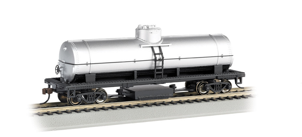 Bachmann HO Track Cleaning Tank Car, Unlettered - Silver