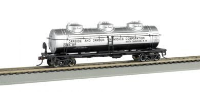Bachmann HO 40' Three Dome Tank Car, Carbide and Carbon Chemicals