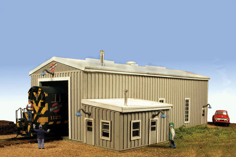 Monroe Models HO Diesel Engine House Kit