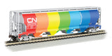 Bachmann HO 4 Bay Cylindrical Grain Hopper, Canadian National Demonstrator
