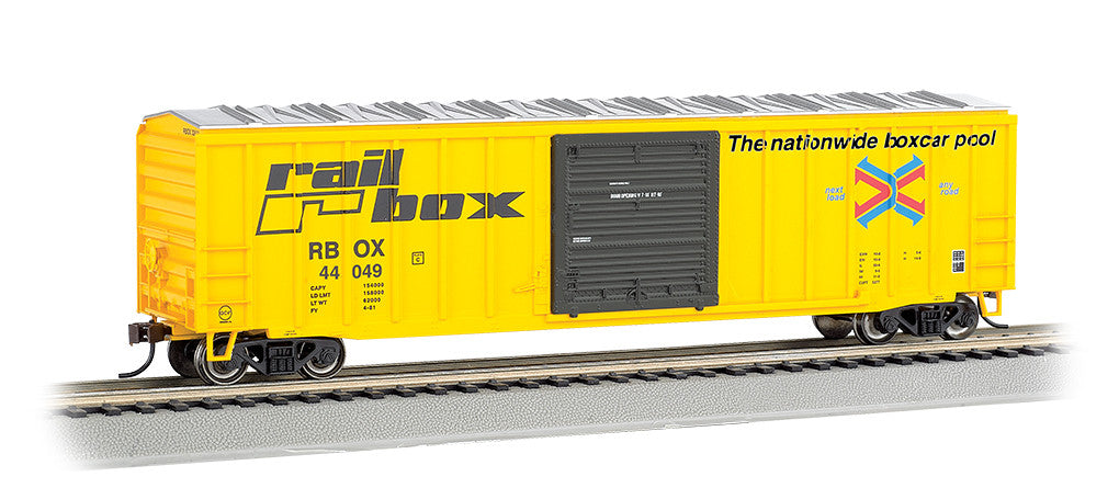 "Bachmann HO ACF 50' 6"" Sliding Door Box, Rail Box #44049"