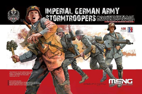 Meng Military Models 1/35 Imperial German Army Stormtroopers Figure Set (4 Figures) Kit