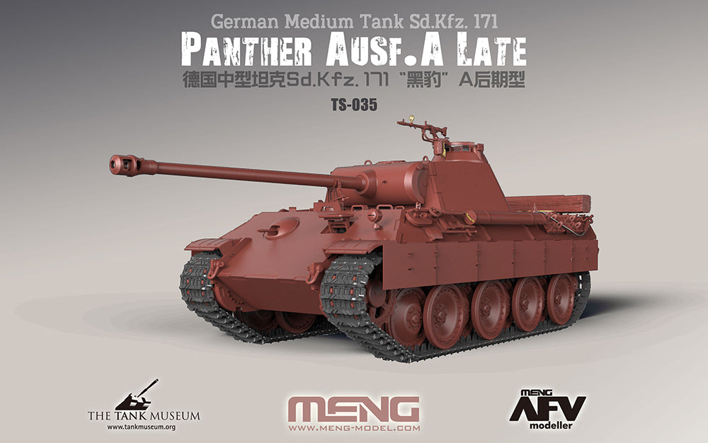 Meng Military Models 1/35 SdKfz 171 Panther Ausf A Late German Medium Tank Kit