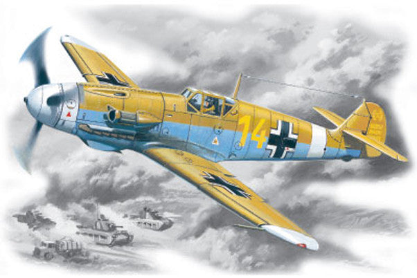 ICM Aircraft 1/48 WWII Messerschmitt Bf109F/4Z Trop Fighter Kit