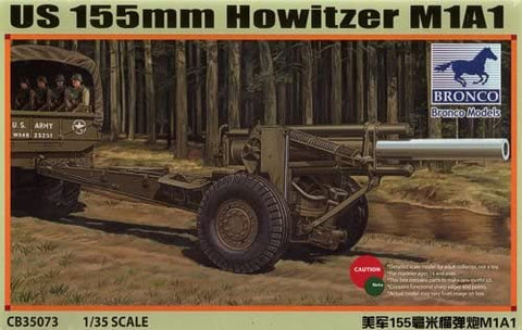 Bronco Military 1/35 WWII US 155mm M1A1 Howitzer Gun Kit
