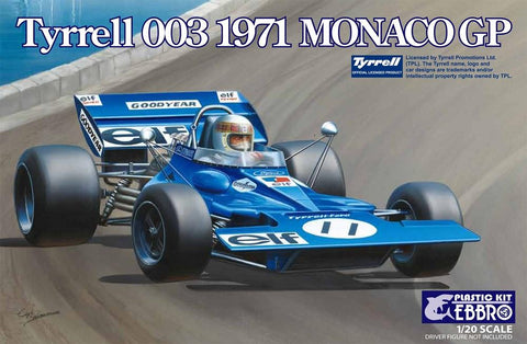 Ebbro Model Cars 1/20 1971 Tyrrell 003 Monaco Grand Prix Race Car Kit