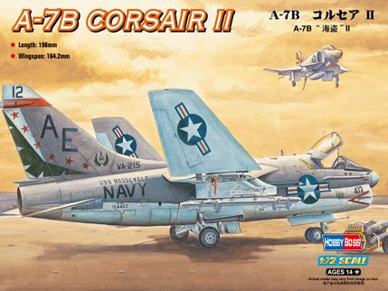 Hobby Boss Aircraft 1/72 A-7B Corsair II Kit