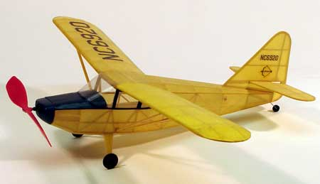 "Dumas Wooden Planes 17-1/2"" Wingspan Stinson Voyager Rubber Pwd Aircraft Laser Cut Wooden Kit"