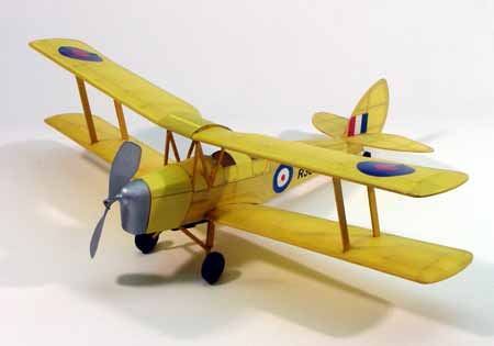 "Dumas Wooden Planes 17-1/2"" Wingspan Tiger Moth Rubber Pwd Aircraft Laser Cut Wooden Kit"