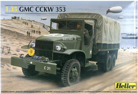 Heller Military 1/35 GMC CCKW 353 Canvas Covered Truck Kit