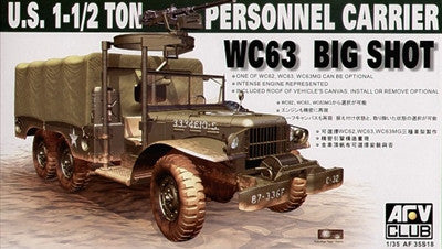 AFV Club Military 1/35 WC63 Big Shot 1.5-Ton Personnel Carrier Kit