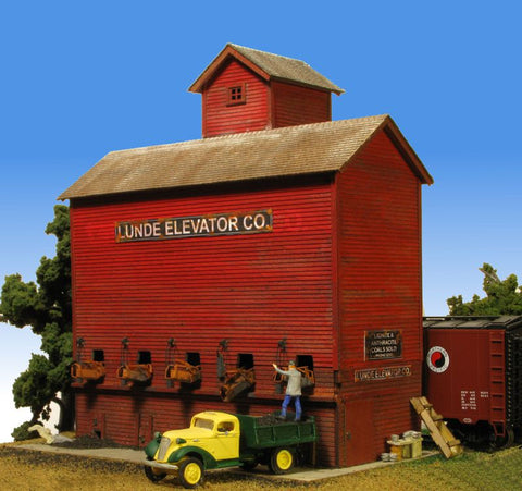 Monroe Models HO Lunde Coal Elevator Kit
