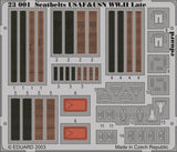 Eduard Details 1/24 Aircraft- Seatbelts USAF & USN WWII Late (Painted)