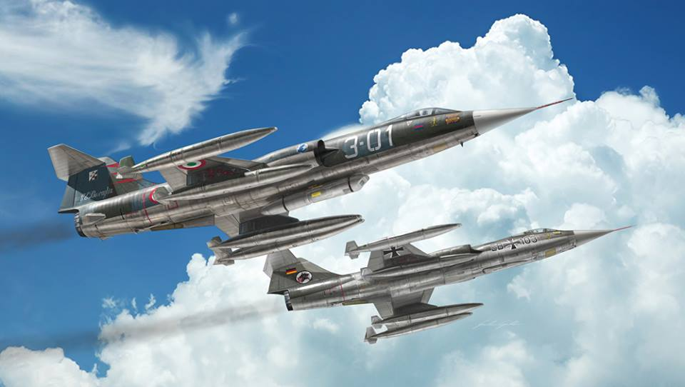 Italeri Aircraft 1/32 F104G/S Starfighter Supersonic Interceptor Aircraft Upgraded Edition w/Orpheus Recon Pod Kit