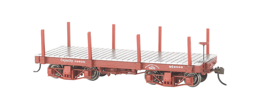 Bachmann On30 Spectrum 18' Flat, Undecorated/Red (2 Cars)
