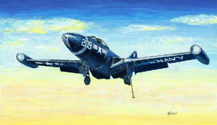 Trumpeter Aircraft 1/48 F9F2 Panther USN Fighter Kit