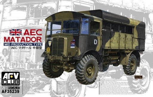 AFV Club Military 1/35 AEC Mid Production Type Matador Truck Kit