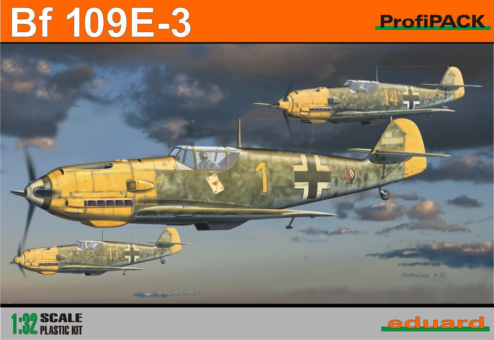 Eduard Aircraft 1/32 Bf109E3 Fighter Profi-Pack Kit