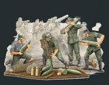 Trumpeter Military Models 1/35 German Field Howitzer Carrying Crew Figure Set (4) Kit