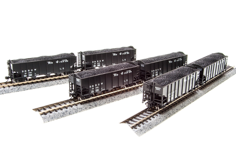 BROADWAY LIMITED IMPORTS N 3bay HOPPER D&RGW 6 PACK