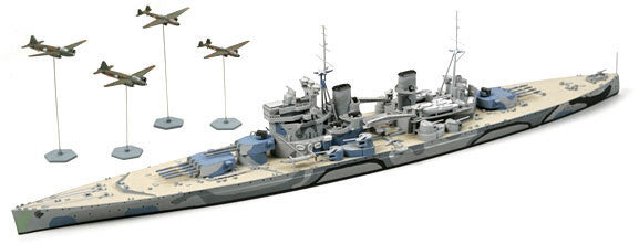 Tamiya Model Ships 1/700 HMS Prince of Wales Battleship Battle of Maya Waterline Kit