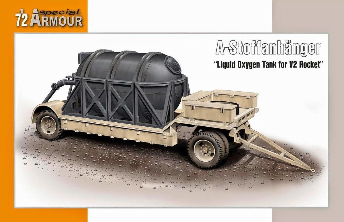 Special Hobby Military 1/72 Liquid Oxygen Tank on Flatbed Trailer for V2 Rocket Kit